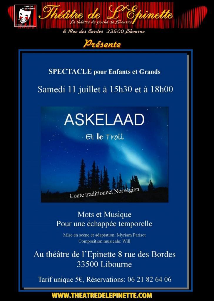 affiche ASKELAAD theatre de l'épinette
