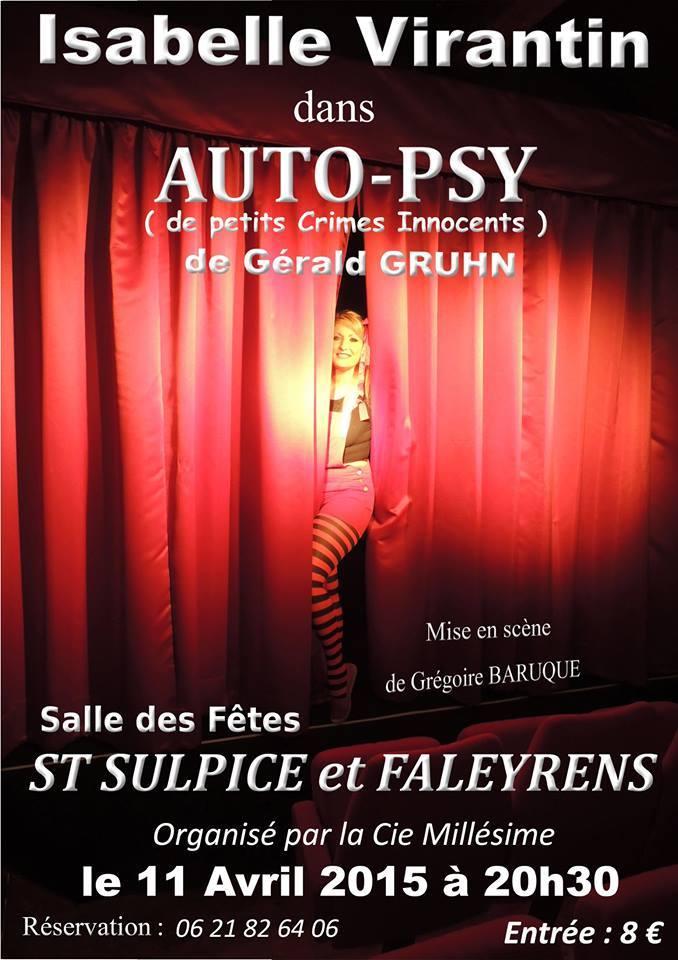 AUTO-PSY par Isabelle Virantin le 11 avril 2015.