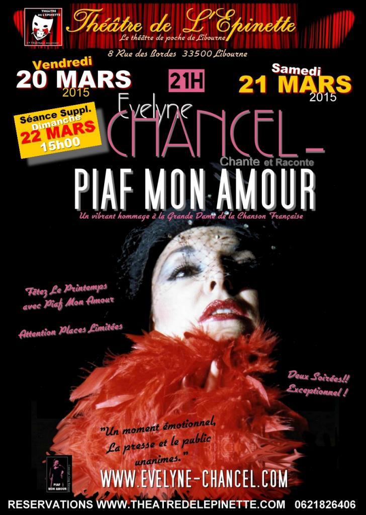 PIAF MON AMOUR 20_21_22 mars 2015 Libourne