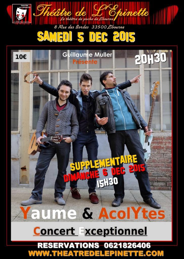 YAUME et ACOLYTE THETRE DE L'EPINETTE 5 6 dec 2015