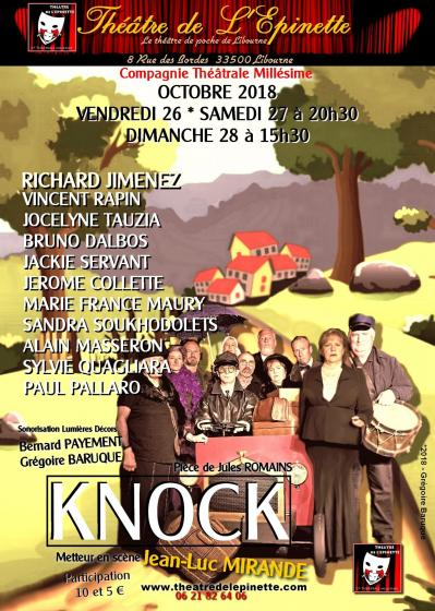 Affiche knock  26  27  28 oct 2018