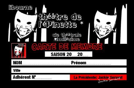 Carte membre recto cie theatre millesime